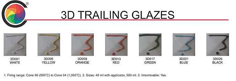 3D Trailing Glazes